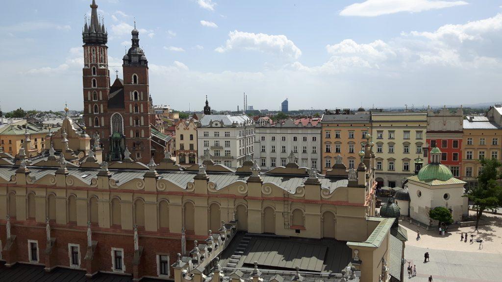 Näkymä tornista. Taustalla Marian kirkko