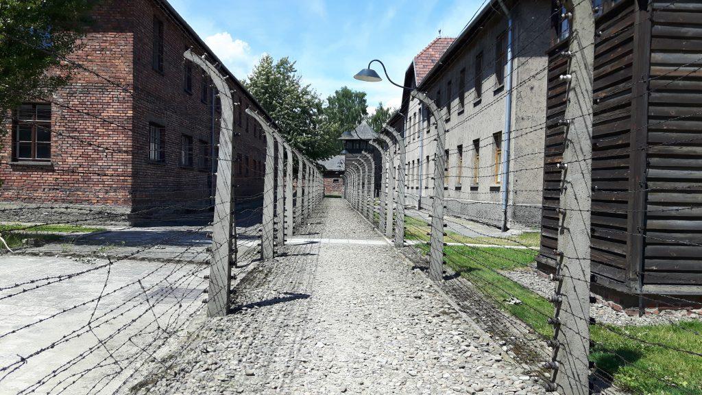 Auschwitz I Auschwitz I - Alueiden välissä oli ns. ei kenenkään maa, jota vartioitiin ankarasti. Alueella oleva henkilö oli lupa tappaa välittömästi.